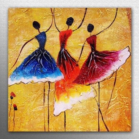 Wall Art Modern Home Deco HD Prints Abstract oil painting on canvas Ballet Girl