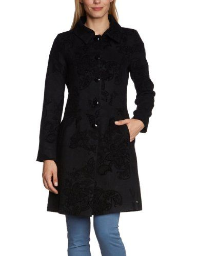 #Desigual Women's Black Over Coat Long Sleeve Wool - Buy New: $249.00 (On sale from $299.00)