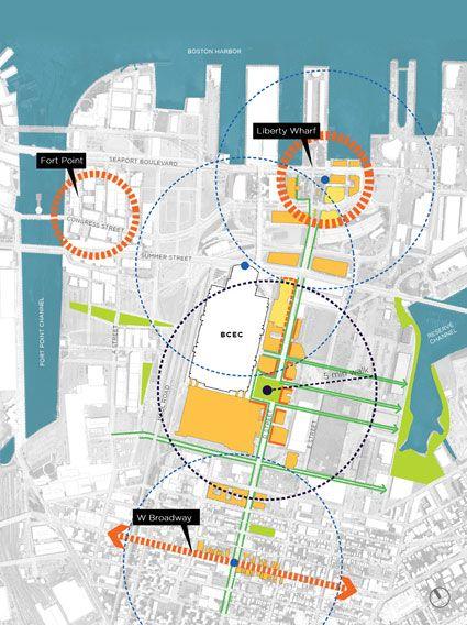 BOSTON CONVENTION AND EXHIBITION CENTER: D STREET CORRIDOR   Urban Design_Diagram   Urban design