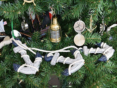 Hampton Nautical Wooden Rustic Blue Triple Anchor Set Christmas Tree Ornament With Images Nautical Christmas Ornaments Christmas Ornaments Elegant Christmas Trees