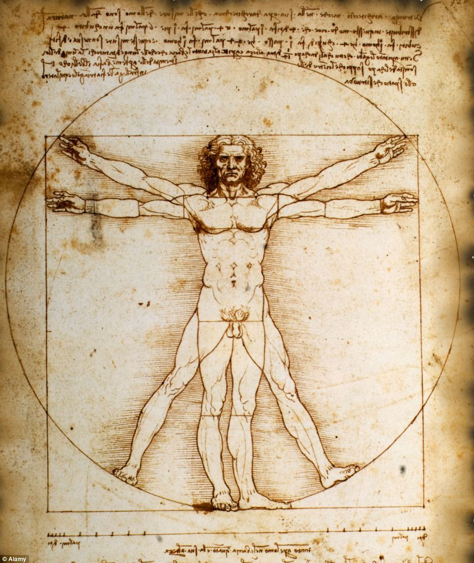 Leonardo da Vinci Vitruvian Man Censored Vitruvian Man by da Vinci ...