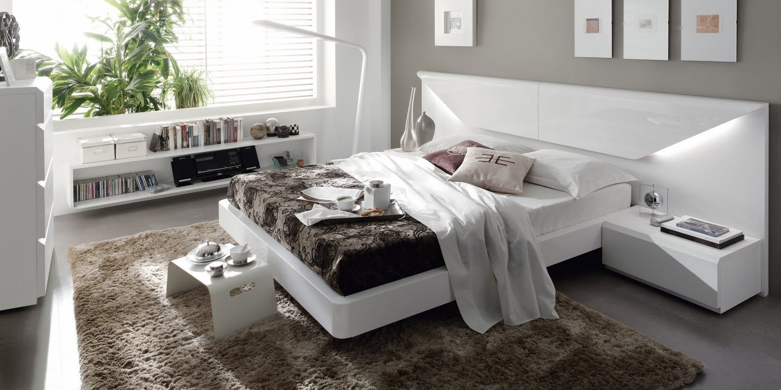 dormitorio de matrimonio lacado blanco mila | 2018 | Pinterest ...