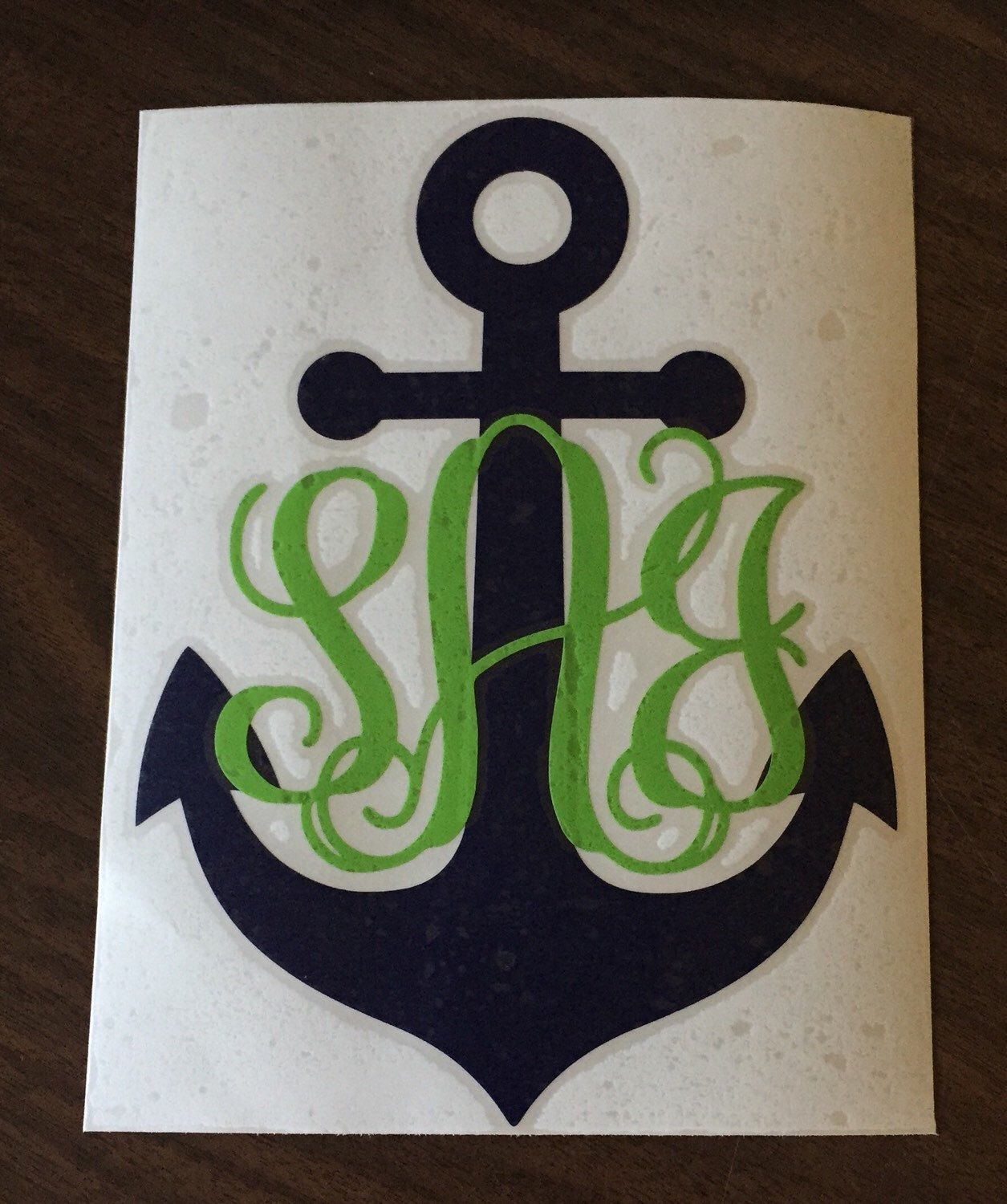 Inch Anchor Monogram Car Decal By ZoLynnDesignsEtc On Etsy - Monogram car decal anchor