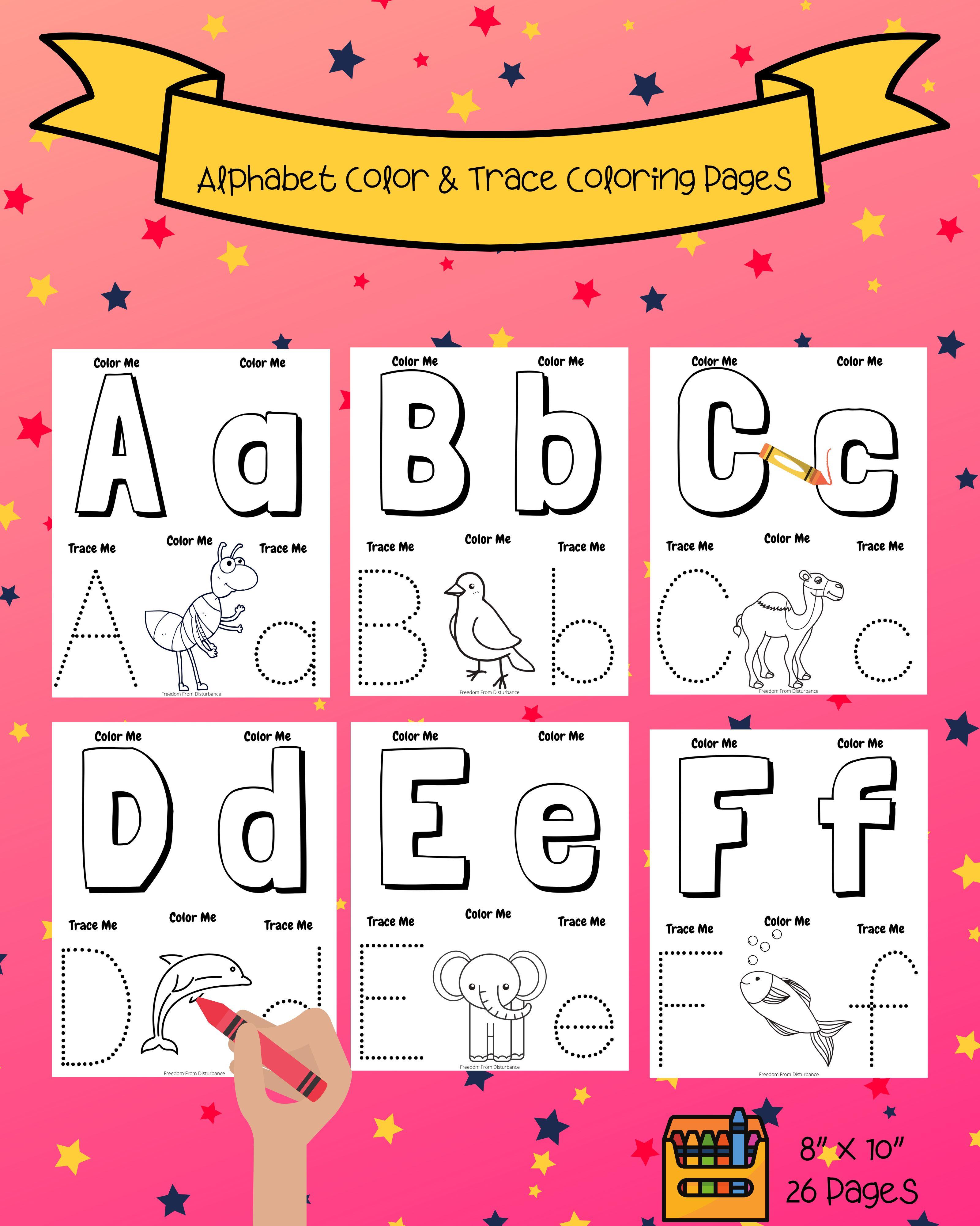 Abc Book Alphabet Book Coloring Pages Abc Coloring Book Instant Download Pdf Alphabet Book Abc Coloring Abc Book