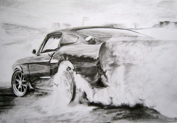 1967 Shelby GT500 burnout #car, #shelby, #gt500, #art, #artwork ...
