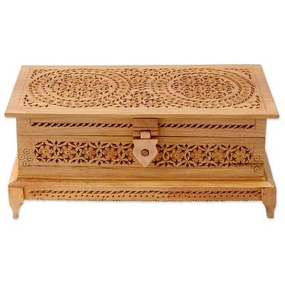 Where To Buy Decorative Boxes Best Wood Box 'mandala Roses'  Indian Jali Carved Kadam Wood 2018