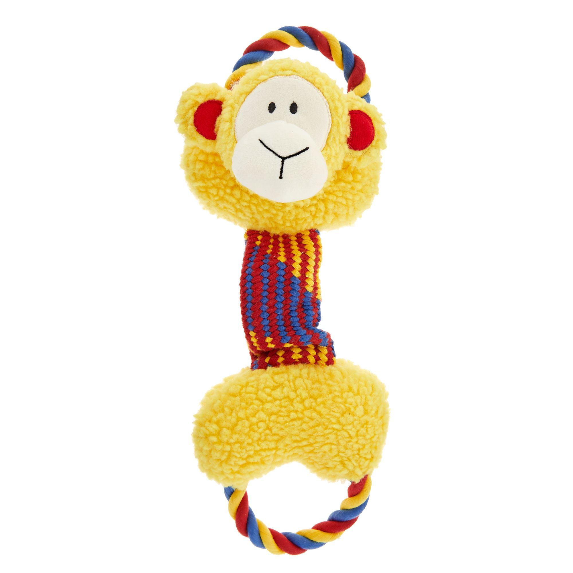 Hem Boo Monty Monkey Rope Arms Dog Toy 26cm Hem Boo Rope Arms Are