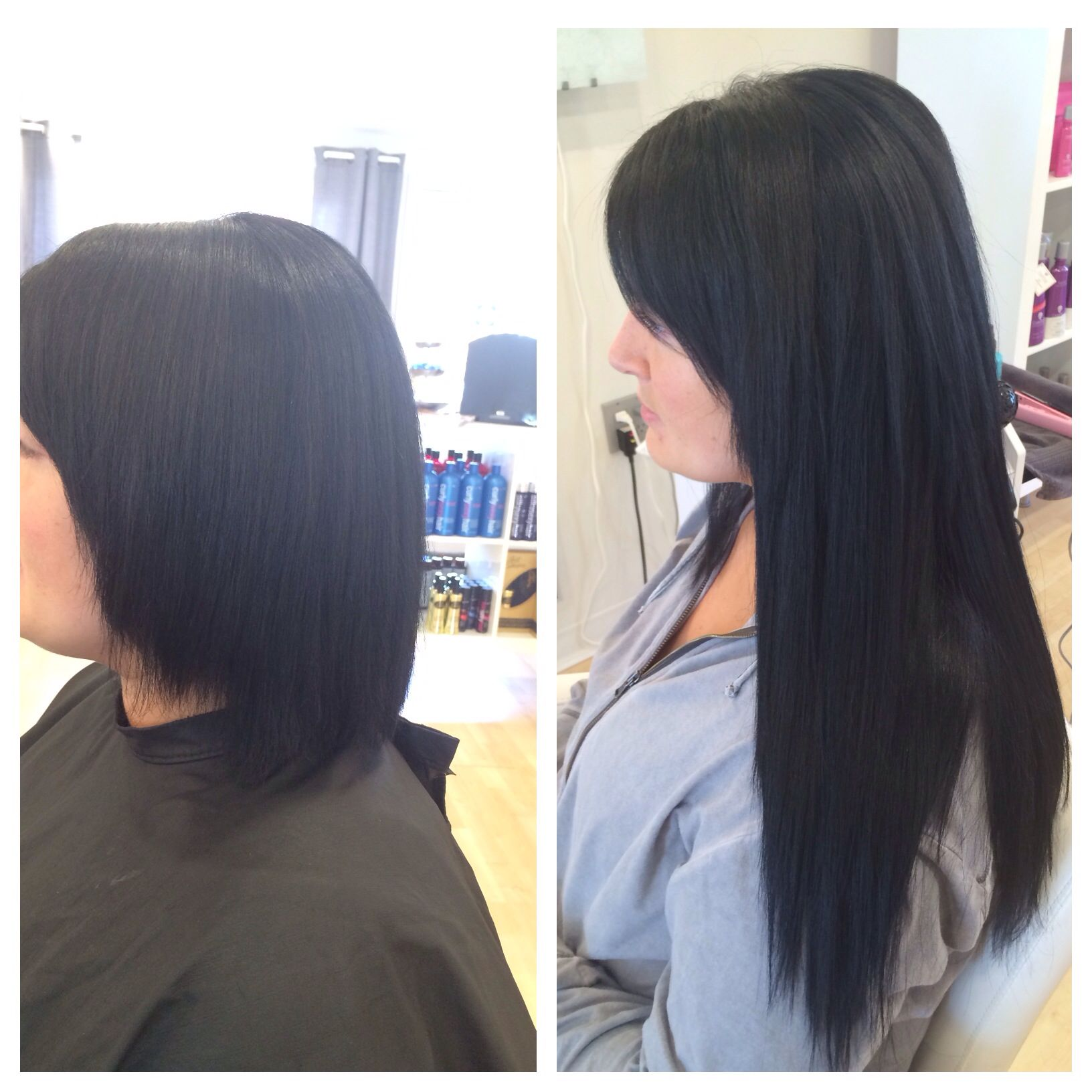 Short Hair To Long Hair Using Babe Tape In Hair Extensions By Ashley