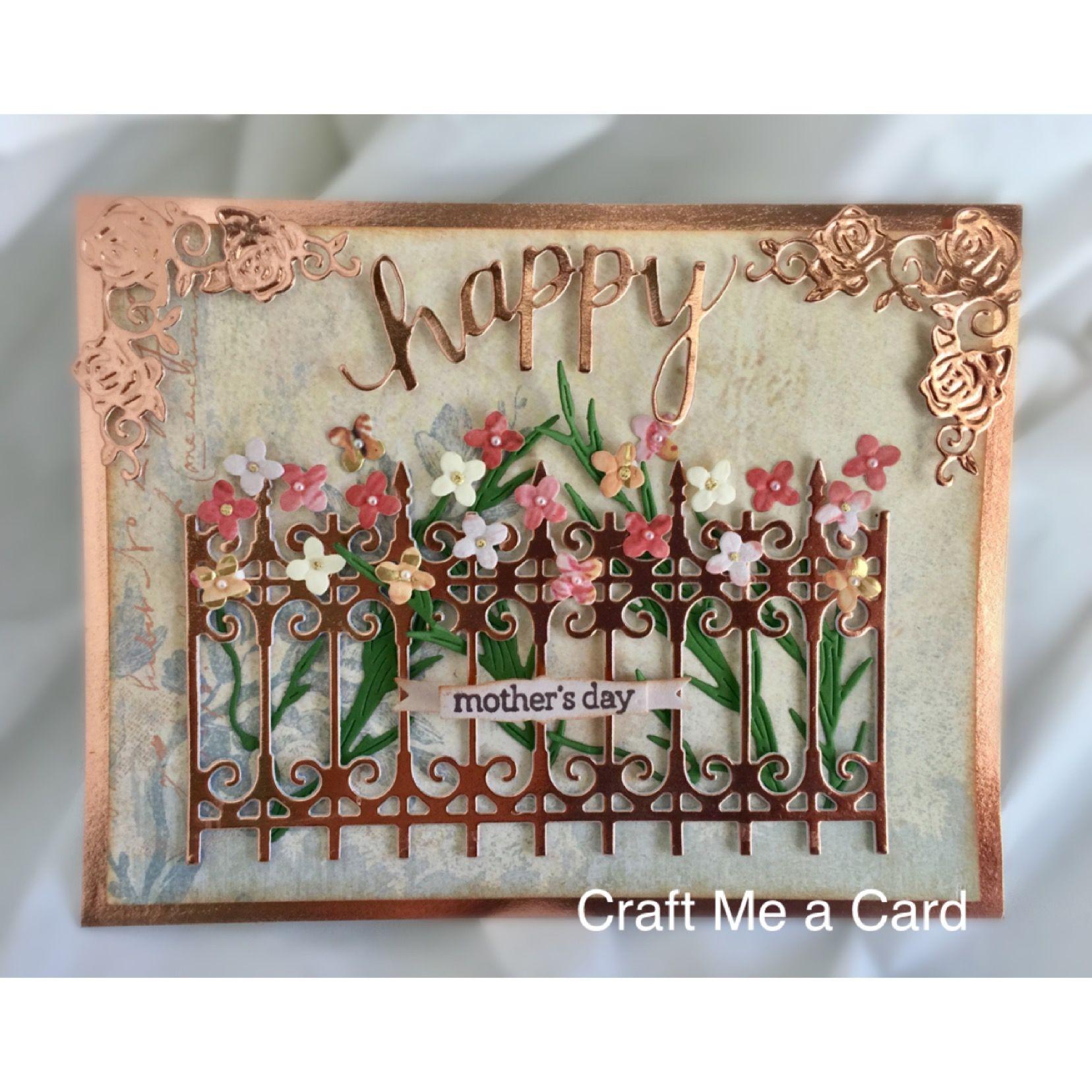Beautiful handmade mothers day card garden with flowers die cut beautiful handmade mothers day card garden with flowers die cut made by craft izmirmasajfo