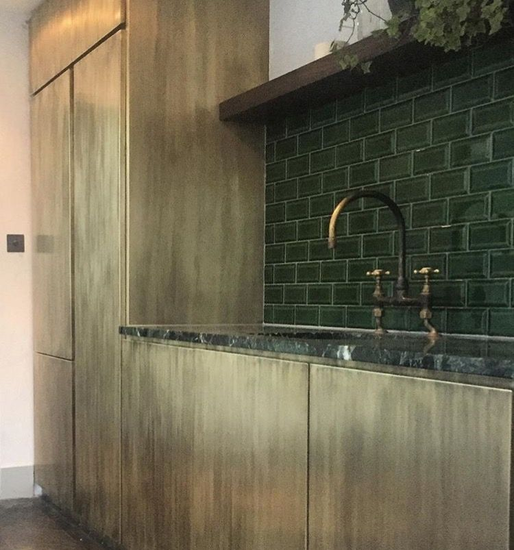 New Look Kitchen And Bath: Brushed Brass Kitchen From Bert And May. Adore This Look