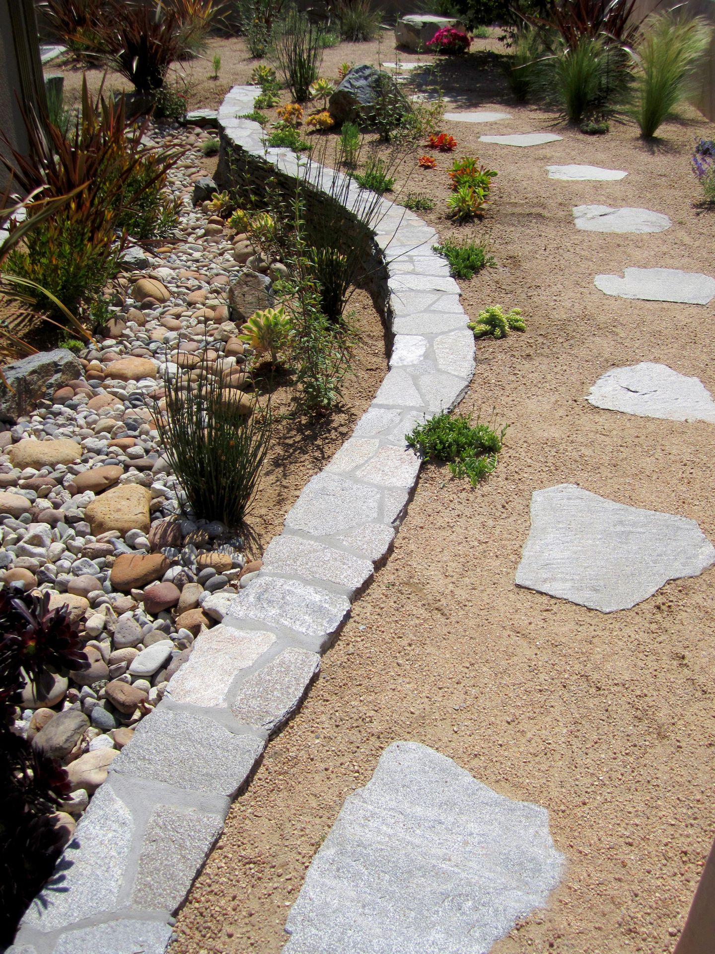 Eco Landscape Southwest Meadow Garden Paths Garden Stones 400 x 300