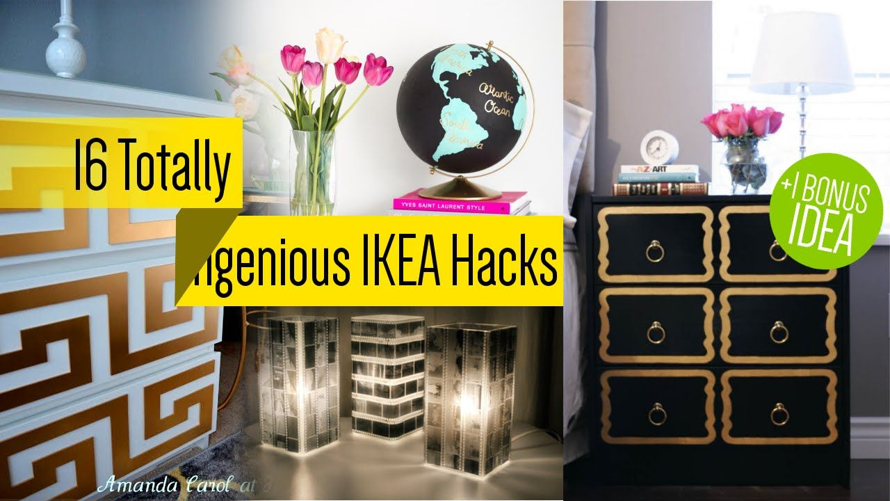 16 IKEA Furniture Makeover - YouTube | DIY Projects | Pinterest ...