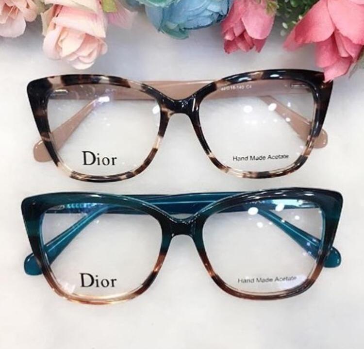 Oculos De Grau Gatinho Quadrado Verde Mesclado Rajado Oculos De