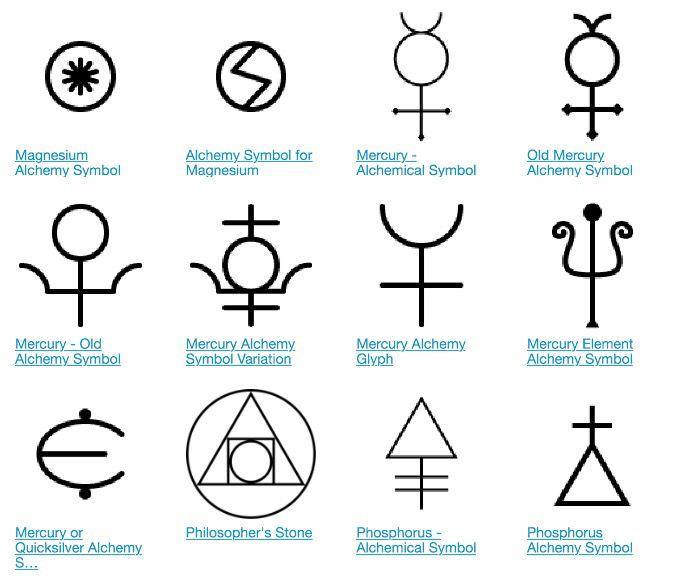 Alchemy Mercury Storyboard Carpe Noctem Pinterest Symbols