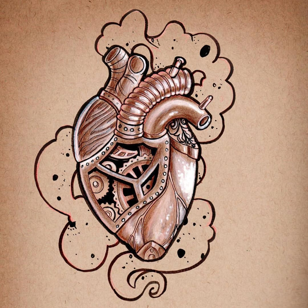 steampunk heart centrepiece for a chest tattoo tattoo ideas pinterest steampunk heart. Black Bedroom Furniture Sets. Home Design Ideas