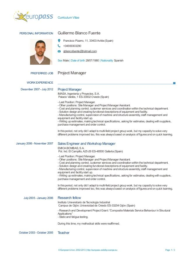 Europa Cv Format Google Docs Resume Template Filled Put For In 2021 Cv Format Cv Template Curriculum Vitae Format