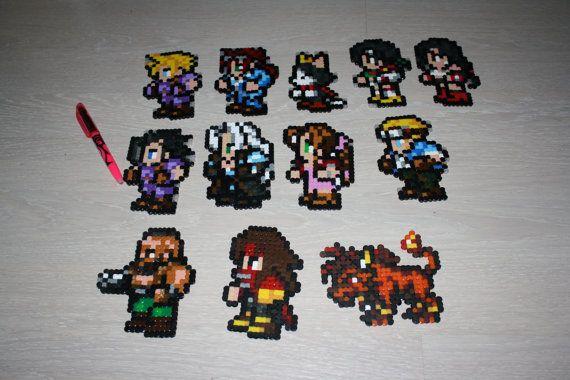 Final Fantasy VII 7 FFRK Perler Pixel Art   Handcrafts