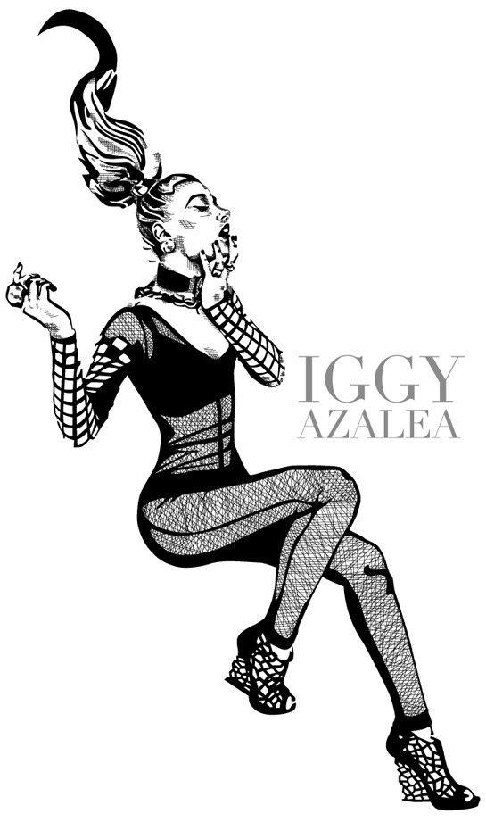 Iggy Azalea Fan Art Iggy Azalea Illustration Iggy