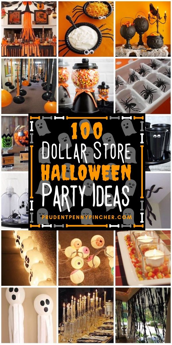 100 Dollar Store Halloween Party Ideas #halloween #halloweenparty #party #halloweendecor #halloweendecorations #diy #crafts