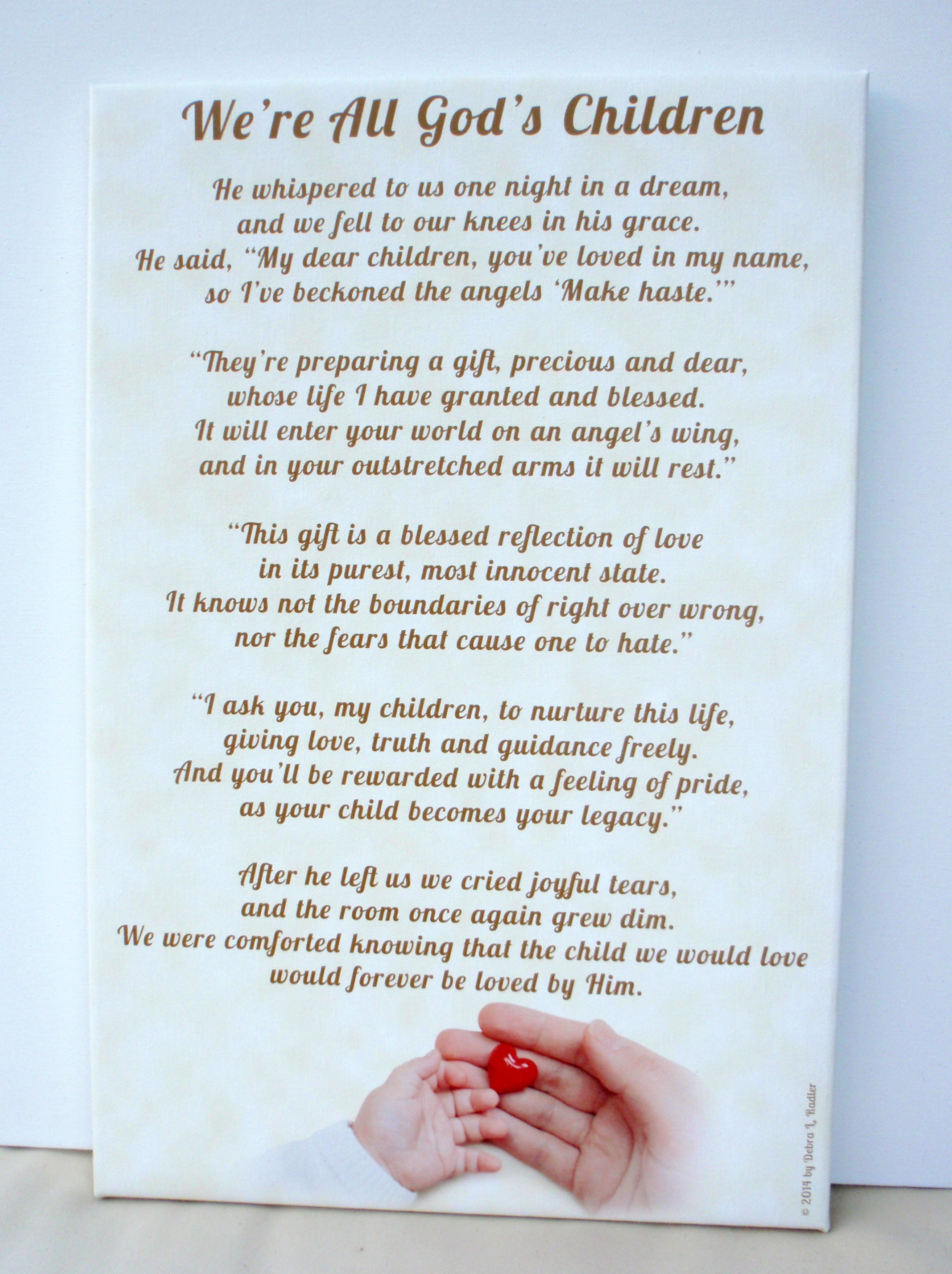 Pin by Artful Poems on Baby Poem-We're All God's Children
