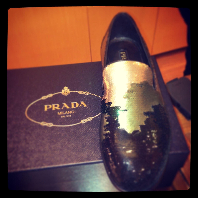 Sequins Via Prada !! So gay yet oh so tuff!!!
