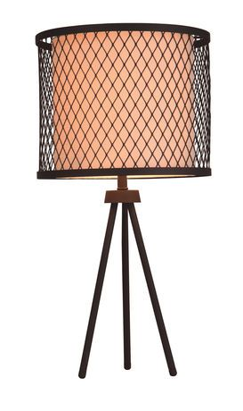 Wire cage around existing lampshade black accent lamp with metal wire cage around existing lampshade black accent lamp with metal and linen shade walmart greentooth Gallery