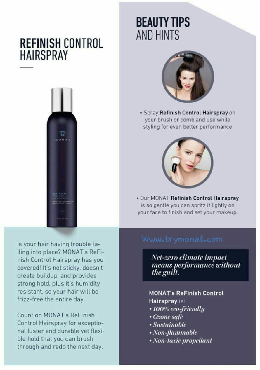 Monat Hair Spray In Non Flammable And So Gentle You Can Lightly