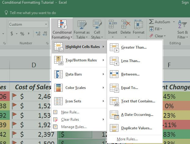 How to Use Conditional Formatting in Microsoft Excel Excel - Spreadsheet Software Programs