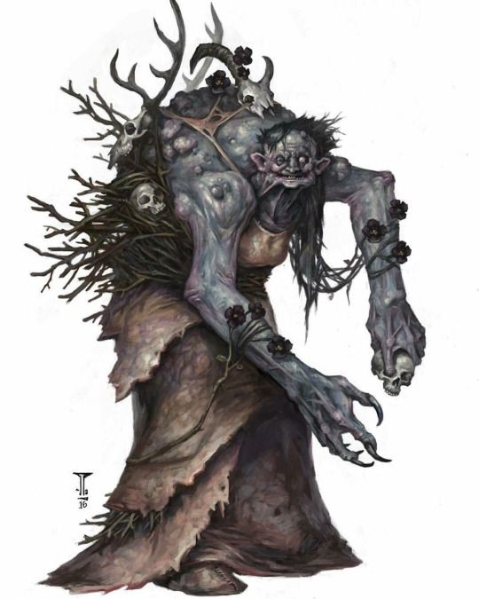 """Tom Babbey's Annis Hag piece for D&D's """"Volo's Guide to Monsters"""""""