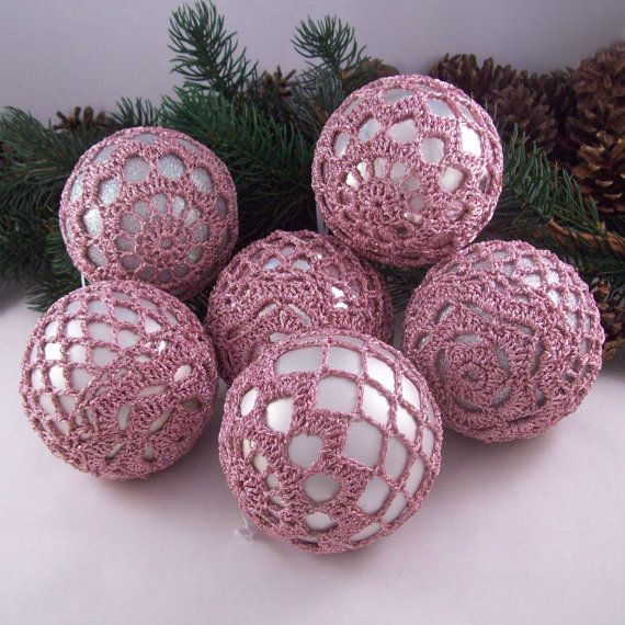 Pink Baubles Christmas Decorations Tree By DrapedInLace On Etsy