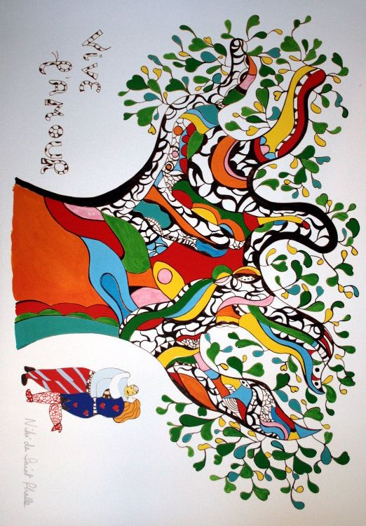 Niki De Saint Phalle Painting | Niki De Saint Phalle, Art Fantaisiste, Art  De La Couleur