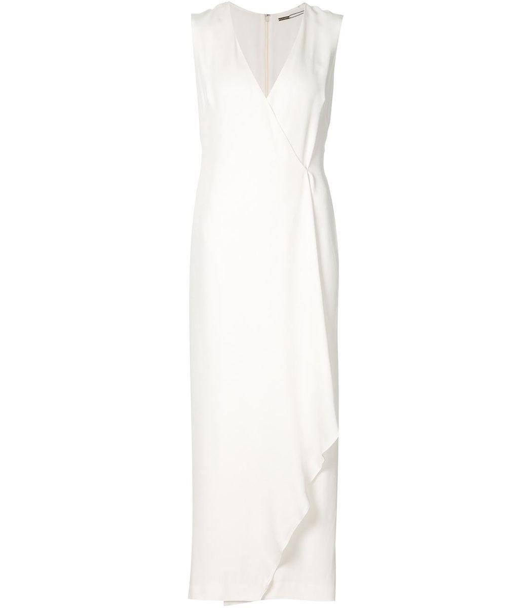 Adam Lippes White Silk Wrap Dress