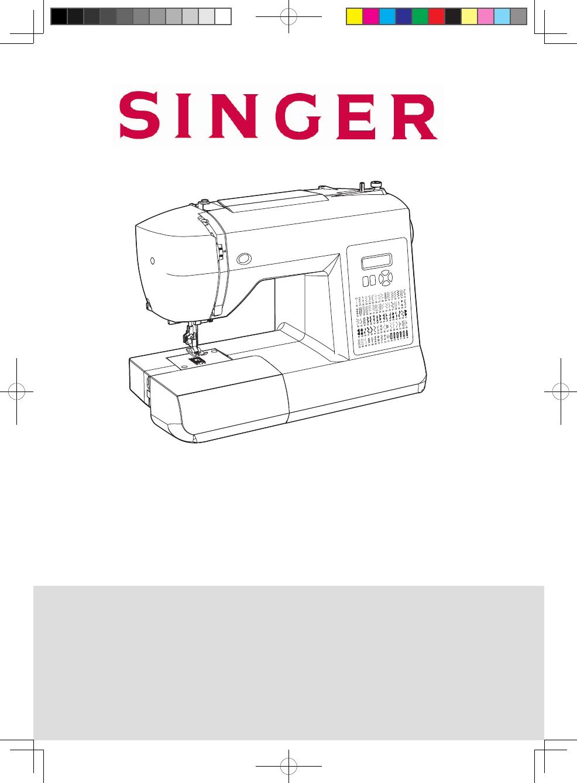 Singer 6180 Brilliance manual - Máquina de coser