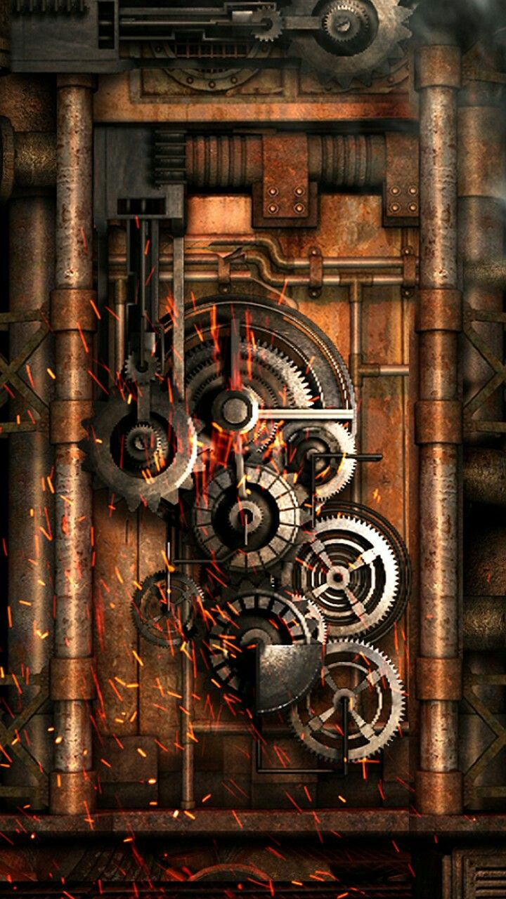 Steampunk Machine And Gears Wallpaper Steampunk Wallpaper Steampunk Background Technology Wallpaper