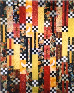 Nine patch stripes. http://shiboridragon.com/store/items/view/1023/quilt_pattern___aardvark