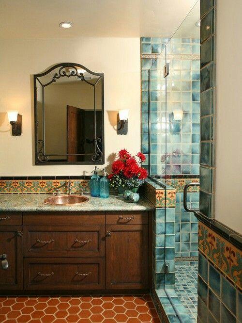 Spanish California Colonial Bathroom Spanish Style Bathrooms Mediterranean Bathroom Spanish Bathroom