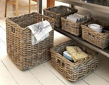 Rattan Storage Baskets Come In A Lovely Greyish Tint And Are Available Three Excellent Sizes With Whole Host Of Practical Lications