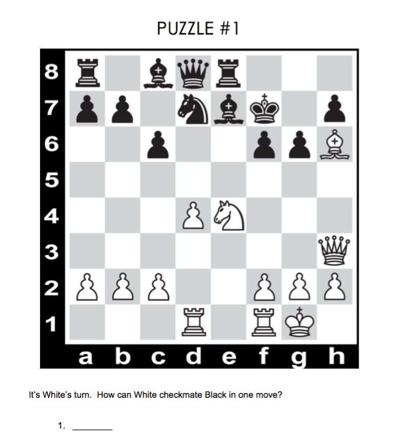 Chess Puzzle For Kids With Answer  Chess Puzzles