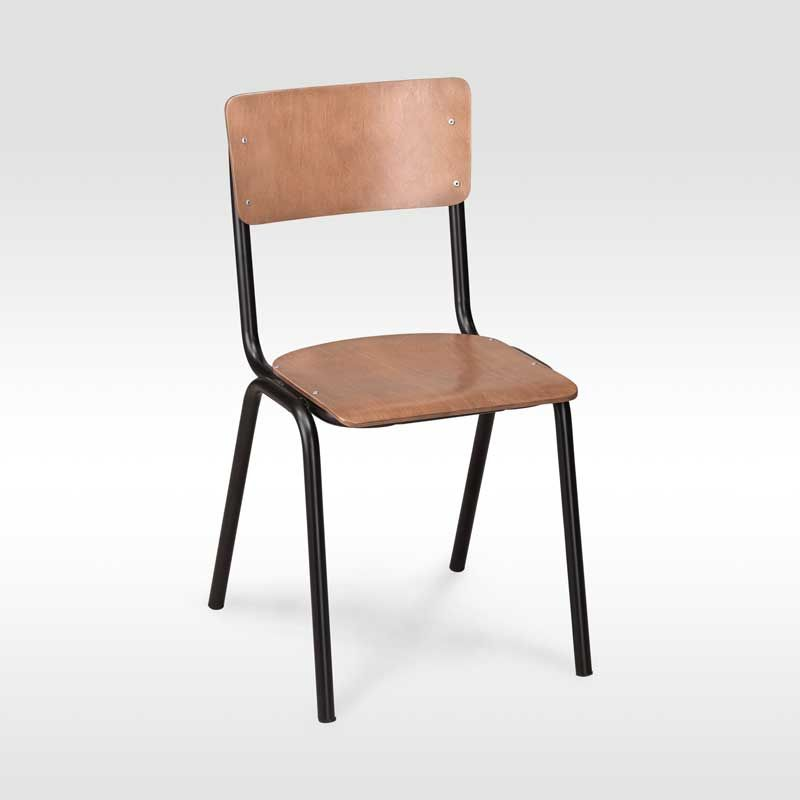 Authentic stacking school chair, still produced by the ...