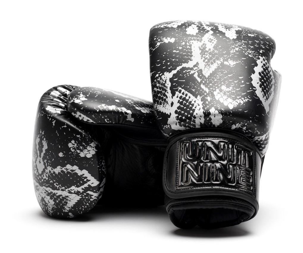 UNIT NINE Silver python boxing gloves | UNIT NINE Boxing