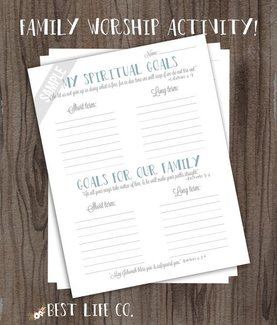 JW Jehovah's Witness Family Worship Night Ideas Tools Worksheets