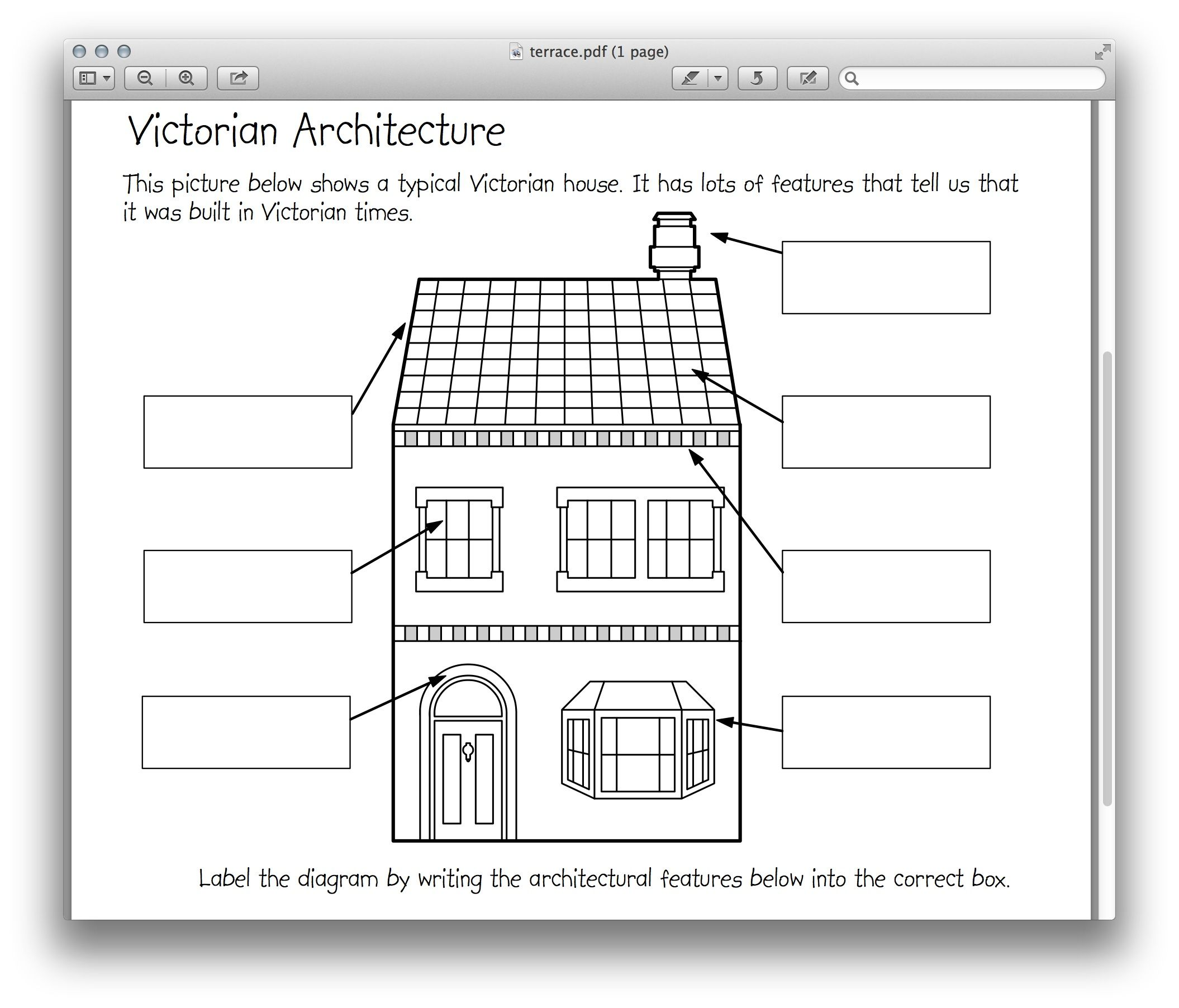 Victorian Architecture Worksheet