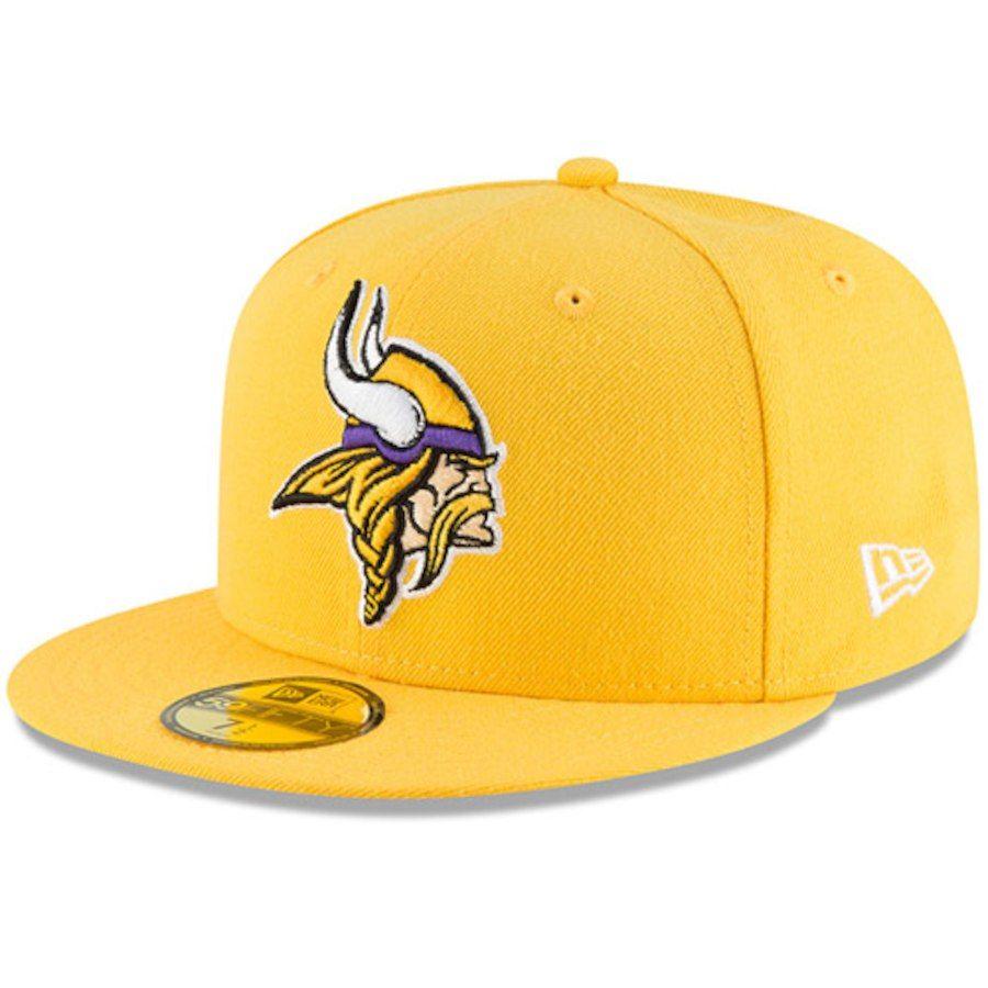 dd3f32391 Men's Minnesota Vikings New Era Gold Omaha 59FIFTY Hat, Your Price: $34.99