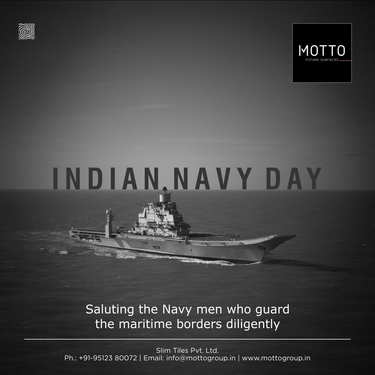 Saluting The Navy Men Who Guard The Maritime Borders Diligently Indian Navy Day Motto Tiles Mottogroup Ceramic Floort Navy Day Indian Navy Day Navy Man