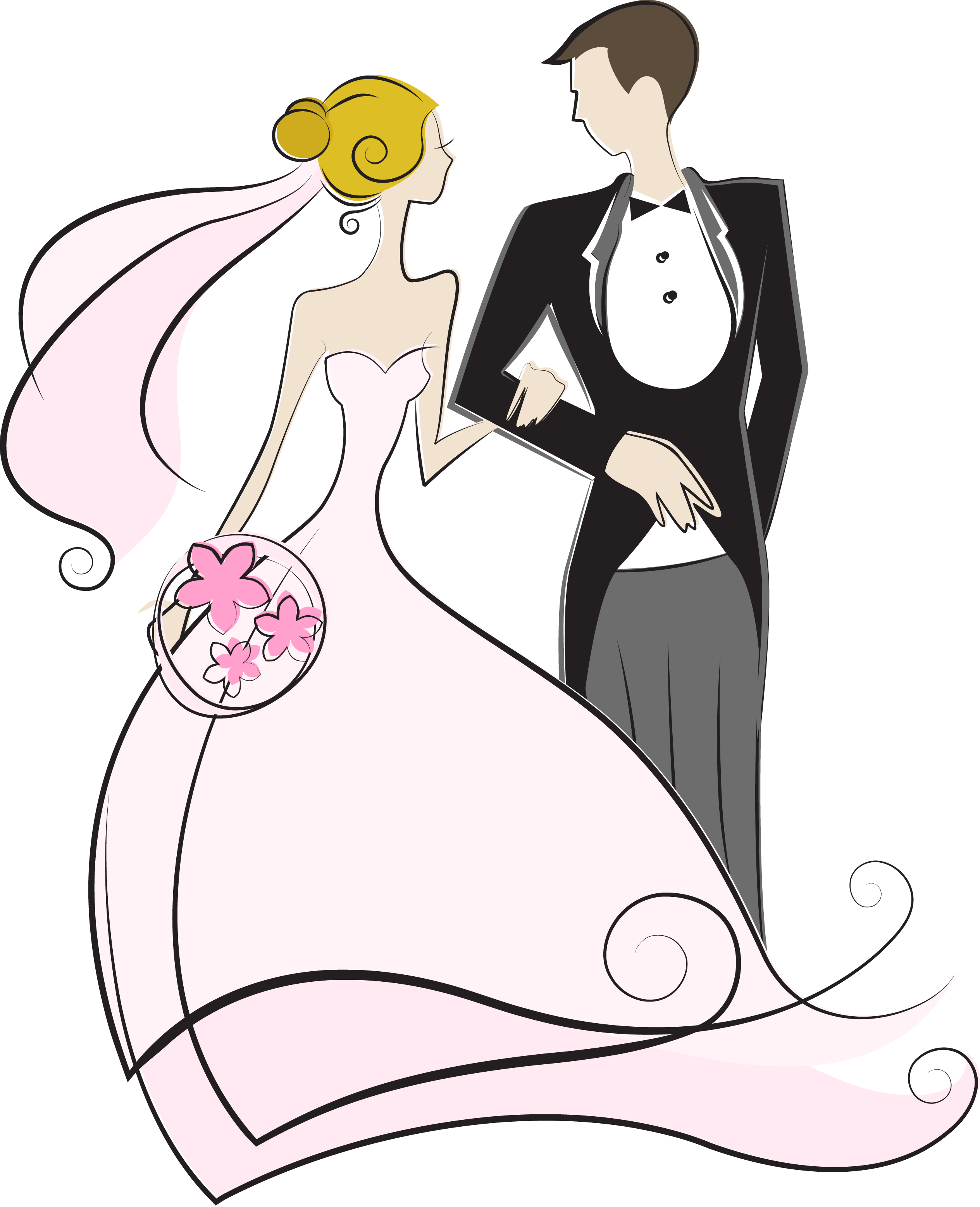 Wedding Couple Clipart Png: Pin By Dara Tata On СВАДЬБА - жених и невеста
