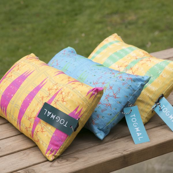 Cushions nspired by the ideographic alphabet Nsibidi - Nsibidi Pink - Toghal - African inspired design and fabrics