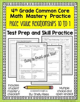 Place Value Relationships 10 to 1 Worksheets | Math Ideas for Upper ...