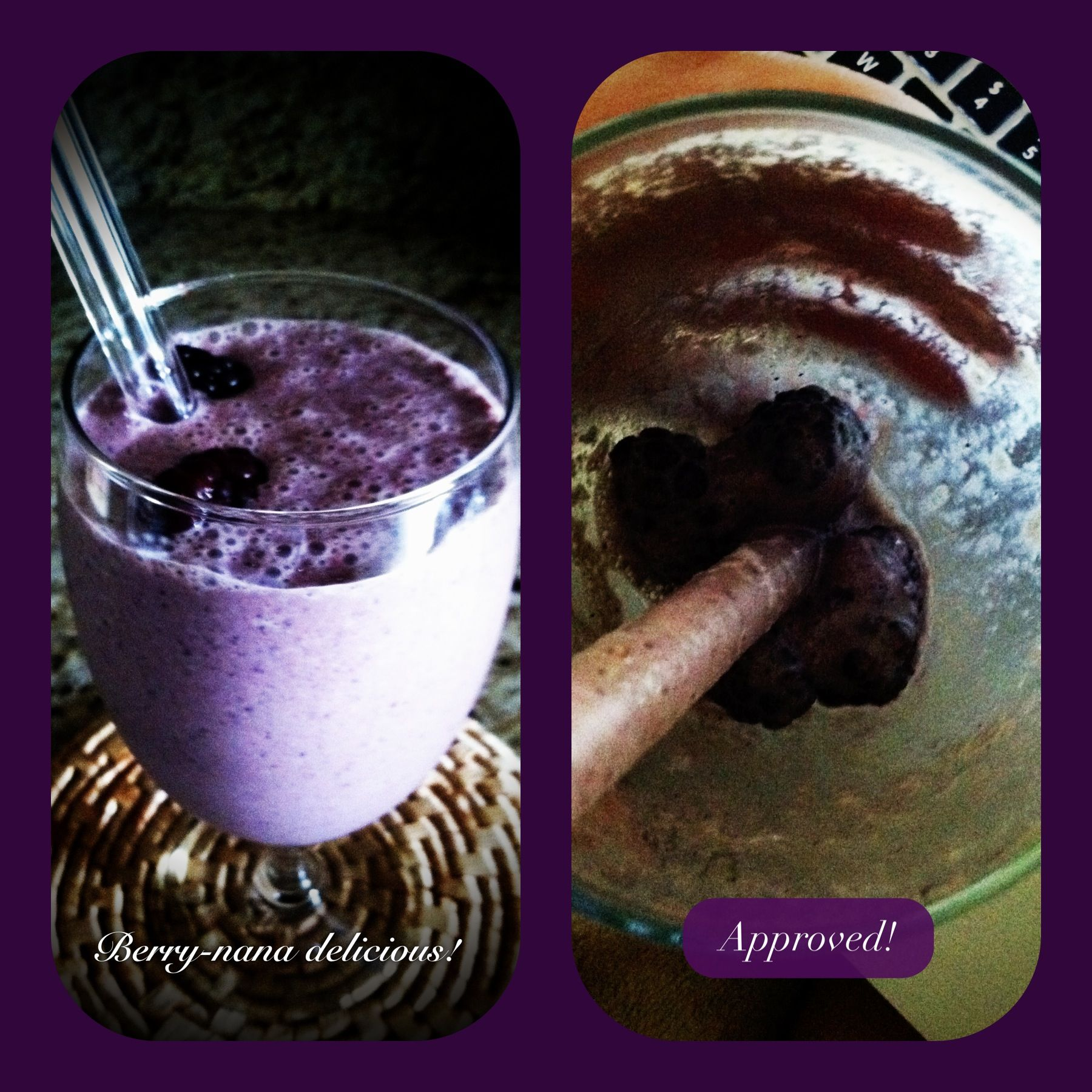 #Smoothie  Banana, blueberry and blackberry smoothie, delightful