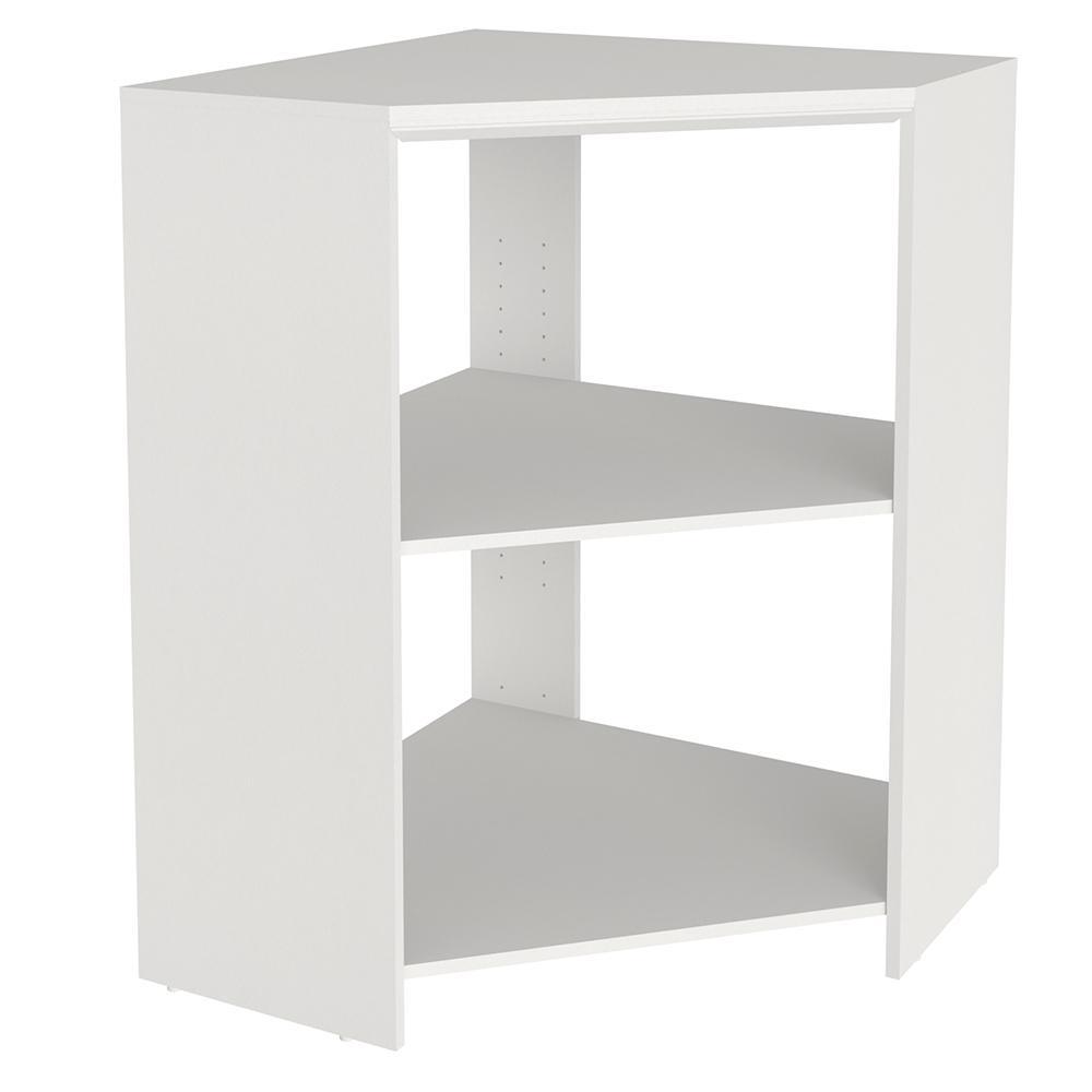 Closetmaid Impressions 28 7 In X 28 7 In X 41 1 In White Laminate Corner Unit 14815 In 2020 Wood Closet Systems White Laminate Shelves