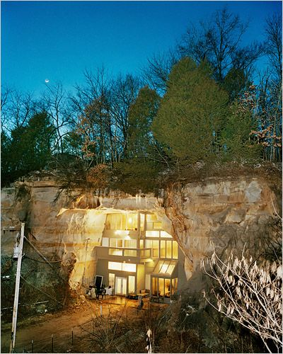 Cave house, night. The famous cave house in Festus, MO